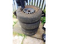 4x 195/65/15 Vauxhall Astra Steel Wheels