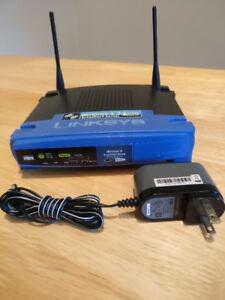 Home router Cisco Linksys WRT-54G. Works great!.
