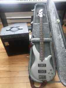 YAMAHA BASS + AMPLIFICATEUR AMPEC