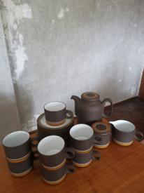Hornsea Pottery vintage coffee/tea set, dated 1978