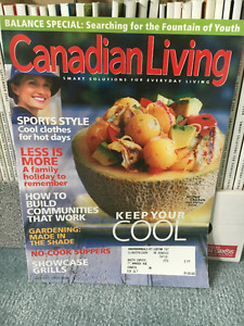 Canadian Living Magazines Jan 2002 to Feb 2005