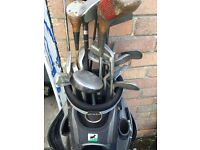 Mixed set of vintage golf clubs
