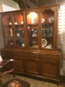 Gibbard China cabinet just arrived light up storage