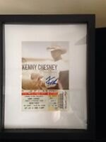 Autographed Kenny Chesney pic w/frame