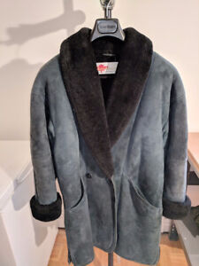 Manteau 3/4 pour femme Suède véritable
