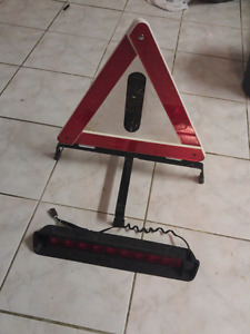Caution sign and trailer brake light 10$