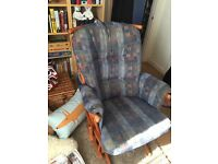 Dutalier glider nursing chair and footstool