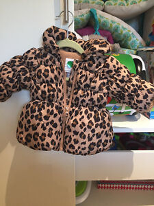 Leopard print super warm puffy winter jacket