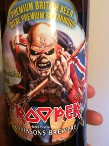 IRON MAIDEN TROOPER BEER 12 SEALED BOTTLES MINT CONDITION