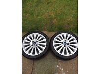 Ford Fiesta titanium alloy wheels 195/45 r16 with tyres