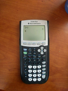 TI-84 Plus graphing calculator with case. Great condition
