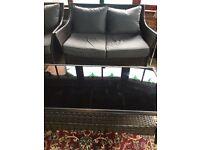 Rattan Garden Patio Furniture set outdoor sofa table Grey Brown