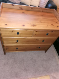 Solid wood drawer unit