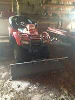 2012 Honda Fourtrax With winch & plow