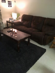 Couch and rug