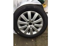Vw t5 brand new single rim and tyre