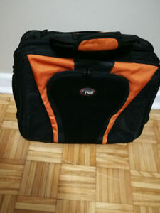 CALPAK Orange 17-inch Deluxe Rolling Laptop Soft Briefcase