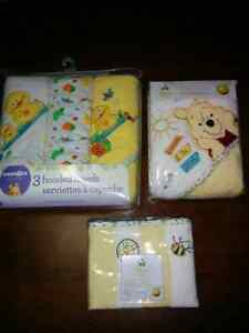 Baby hooded towels and washcloths