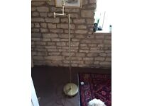 Gold lamp stand - free - needs TLC
