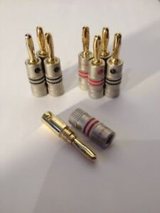 24K Plated Banana Audio Plugs