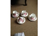 4 x China tea set trios