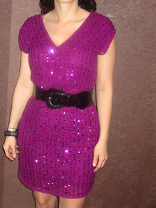 Sequinned Pink Party Dress