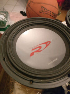 """Alpine Type-R 12"""" subwoofer with dual 2-ohm voice coils"""