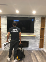 SAME DAY TV MOUNTING AND INSTALLATION IN THE GTA 647-979-5476