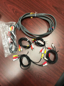 Assorted TV Cable/Satellite TV Cables & Accessories