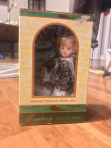 In Box Genuine Porcelain Bisque Doll