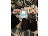 Nintendo DS lite, 3 games & case