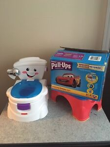 Potty, step stool and pull ups