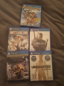 Lot of 5 games - PS4 ONLY SELLING INDIVIDUALLY OR IN BUNDLE