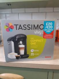 Brand New Bosch Tassimo Vivy II Hot Drink & Pod Coffee Machine