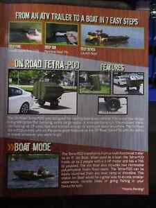 ATV Trailer that flips into a BOAT - TETRA-POD. Kitchener / Waterloo Kitchener Area image 8