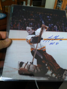 Gerry Cheevers Auto Graphed Photo