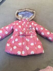 Polka Dot padded coat