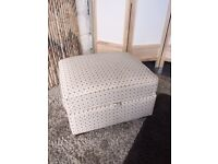 Marks and Spencer Ramsden Spot Design Fabric Storage Footstool