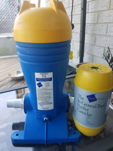 Pool  clarifier with cartridge