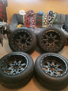 20x12 8x165 Fuel Mavericks with 305/55 Toyo Open country's