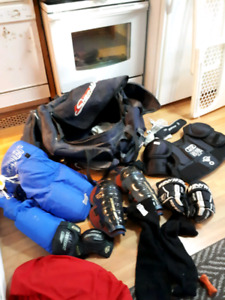 Hockey equipment for sale, lightly used. $100