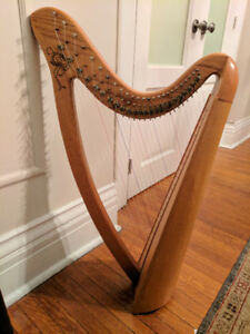Lap Harp - 25 string fully levered