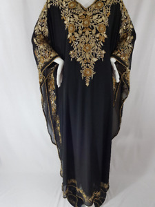 BLACK DUBAI KAFTAN,ABAYA,WEDDING DRES,MOROCCAN CAFTAN,PARTY WEAR