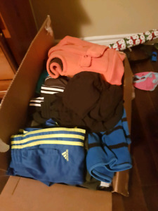 Box of boys cloths size 24 and 2t
