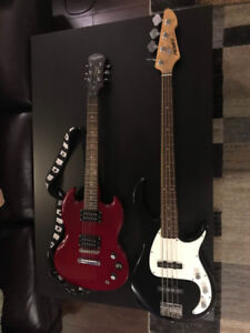 Guitar & Bass with Amps - Compete Setup