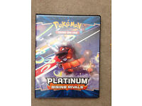 Super collection of Pokemon cards, including rares and shinies with Pokemon holder