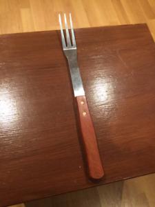 Fourchette pour le barbecue