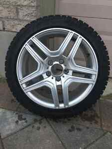 Winter Tires + Rims, 17 inch x4 set, only 2 winters old! London Ontario image 1