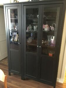 Hemnes China Cabinet 2 pce