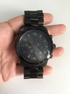 Mens Black Michael Kors Watch